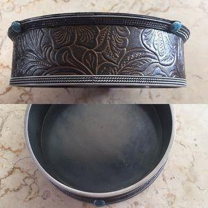 Tooled Leather Wine Coaster